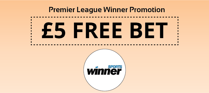 £5 Free Bet promotion at Winner